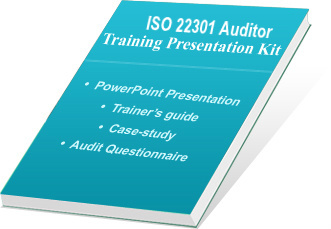 ISO 22301 auditor training ppt